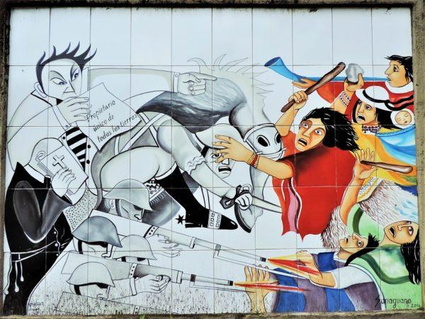 Andes peinture mural