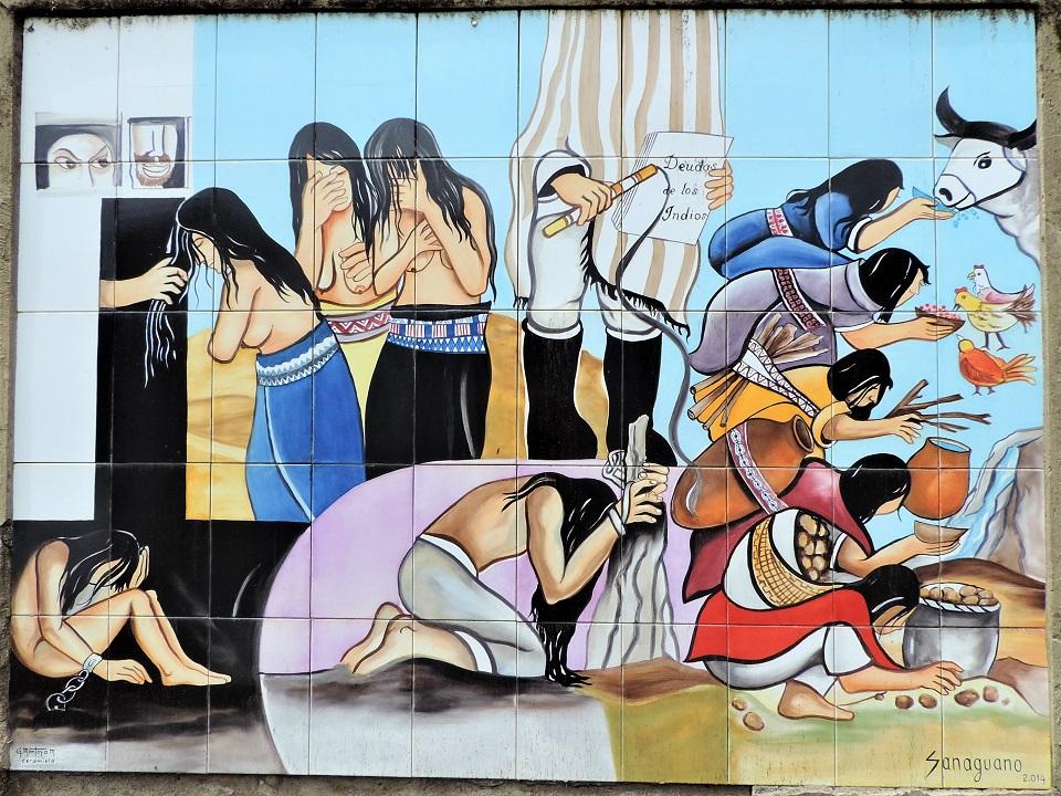 Andes peinture murale