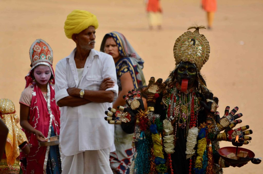 Deese Kali, homme au turban, foire de Pushkar Rajasthan Inde
