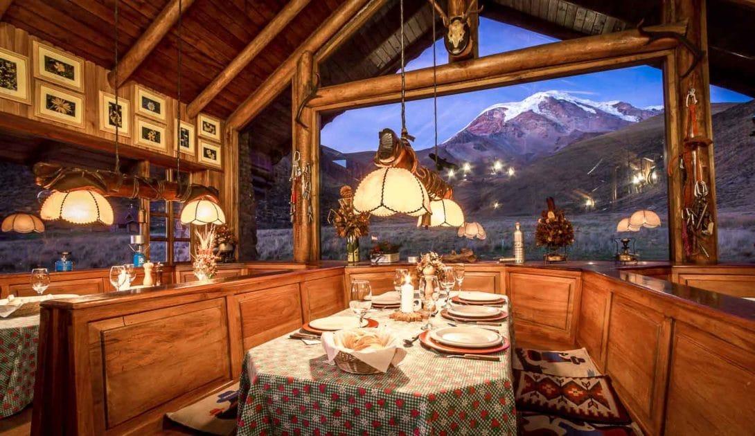 Chimborazo Lodge_Restaurant vue sur montagne