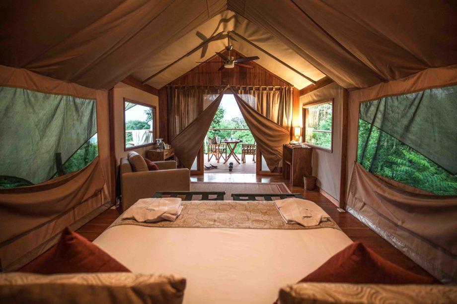 Galapagos Safari Camp tente glamping voyage Équateur authentique