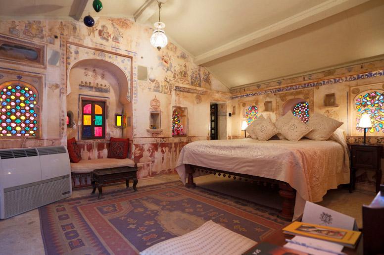 Chambre d'hotel en Inde