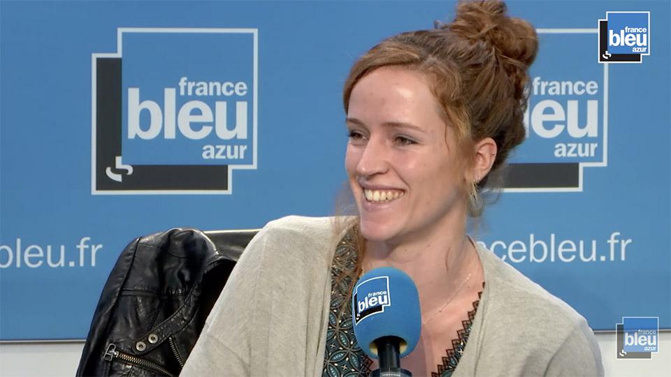 Alice à la radion France Bleu Azur