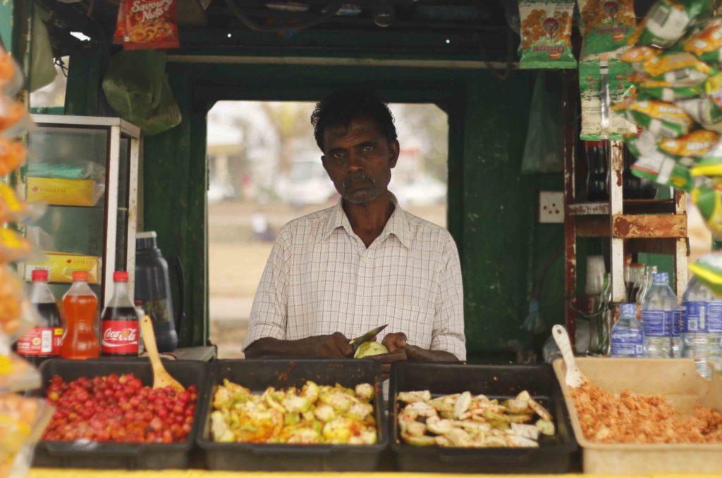 vendeur de rue à Colombo