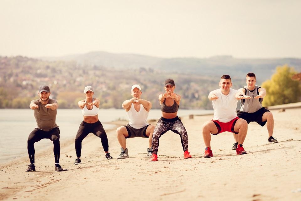 Squat CrossFit plage outdoor